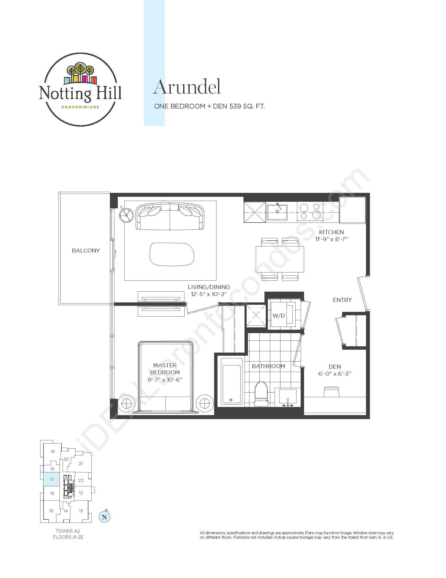 Arundel - One bedroom + den