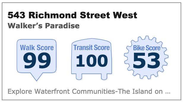 543 Richmond St W walk score