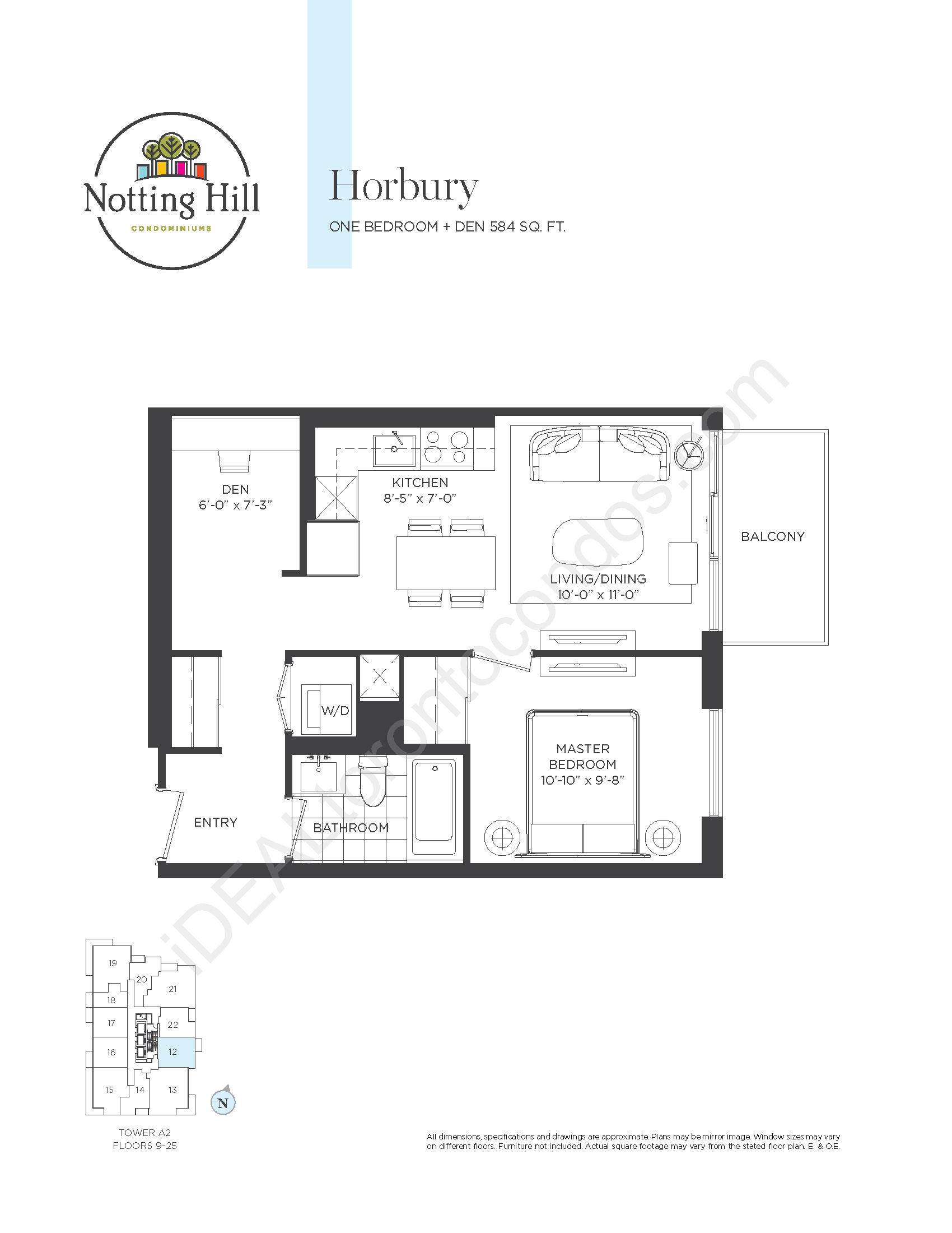 Horbury - One Bedroom + den