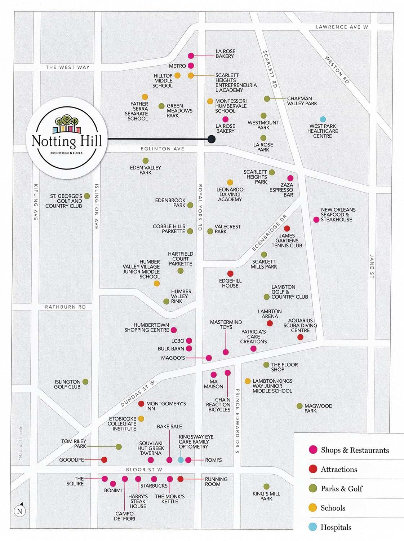 Notting Hill Condos neighbour map