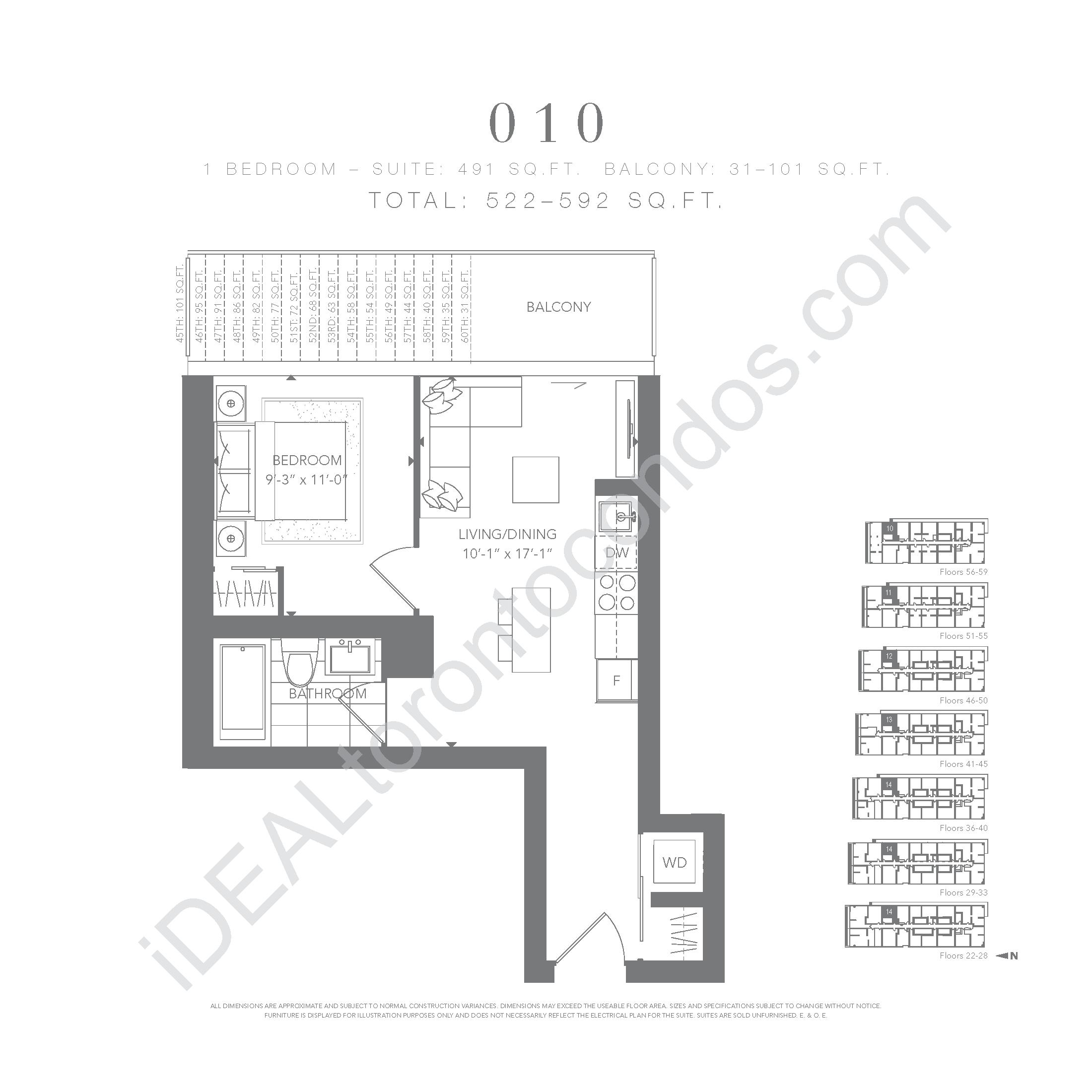 1 bedroom 010