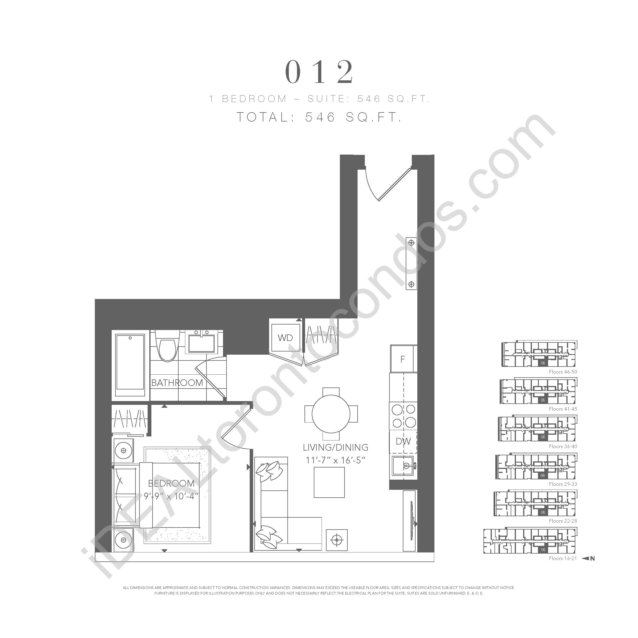 1 bedroom 012