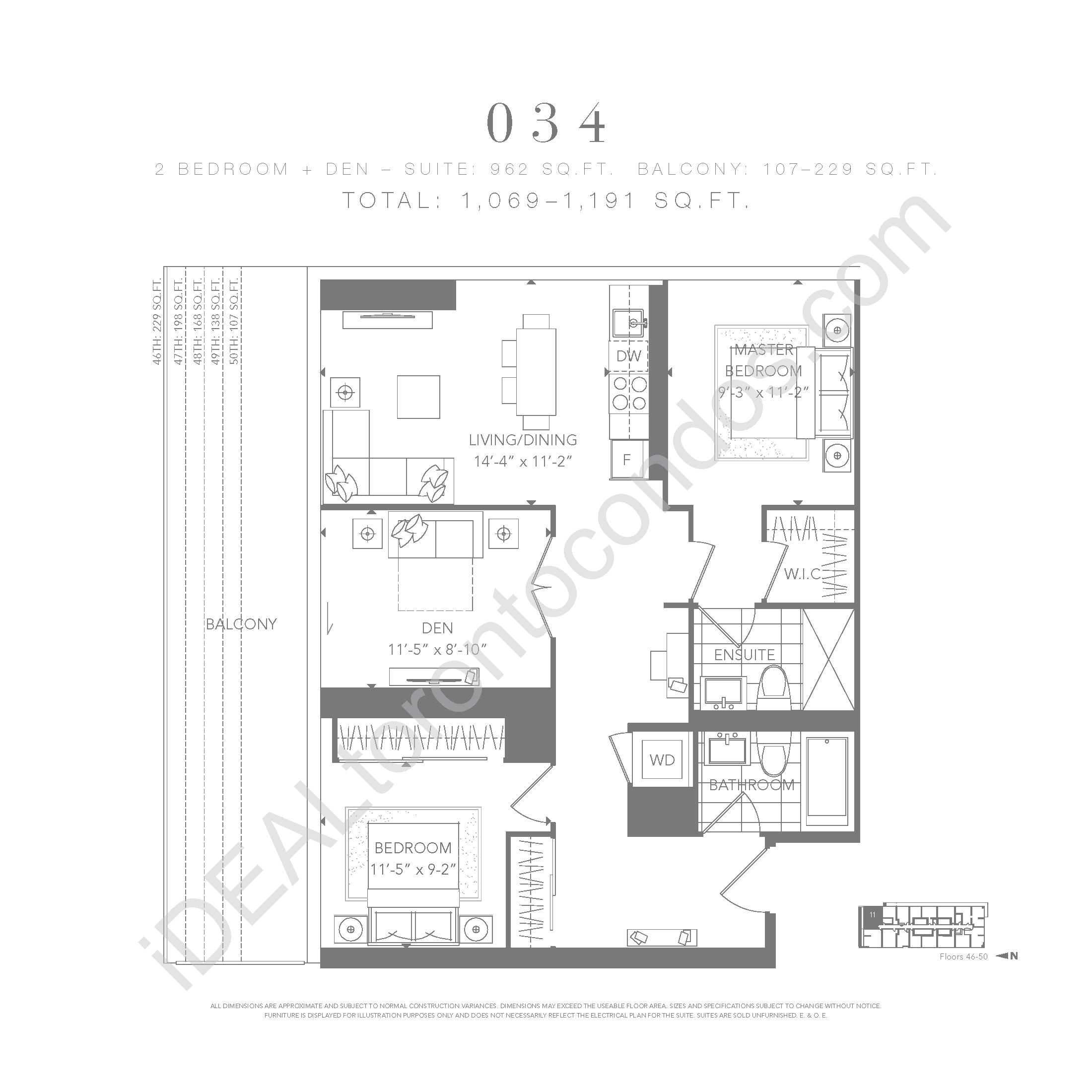 2 bedroom + den 034