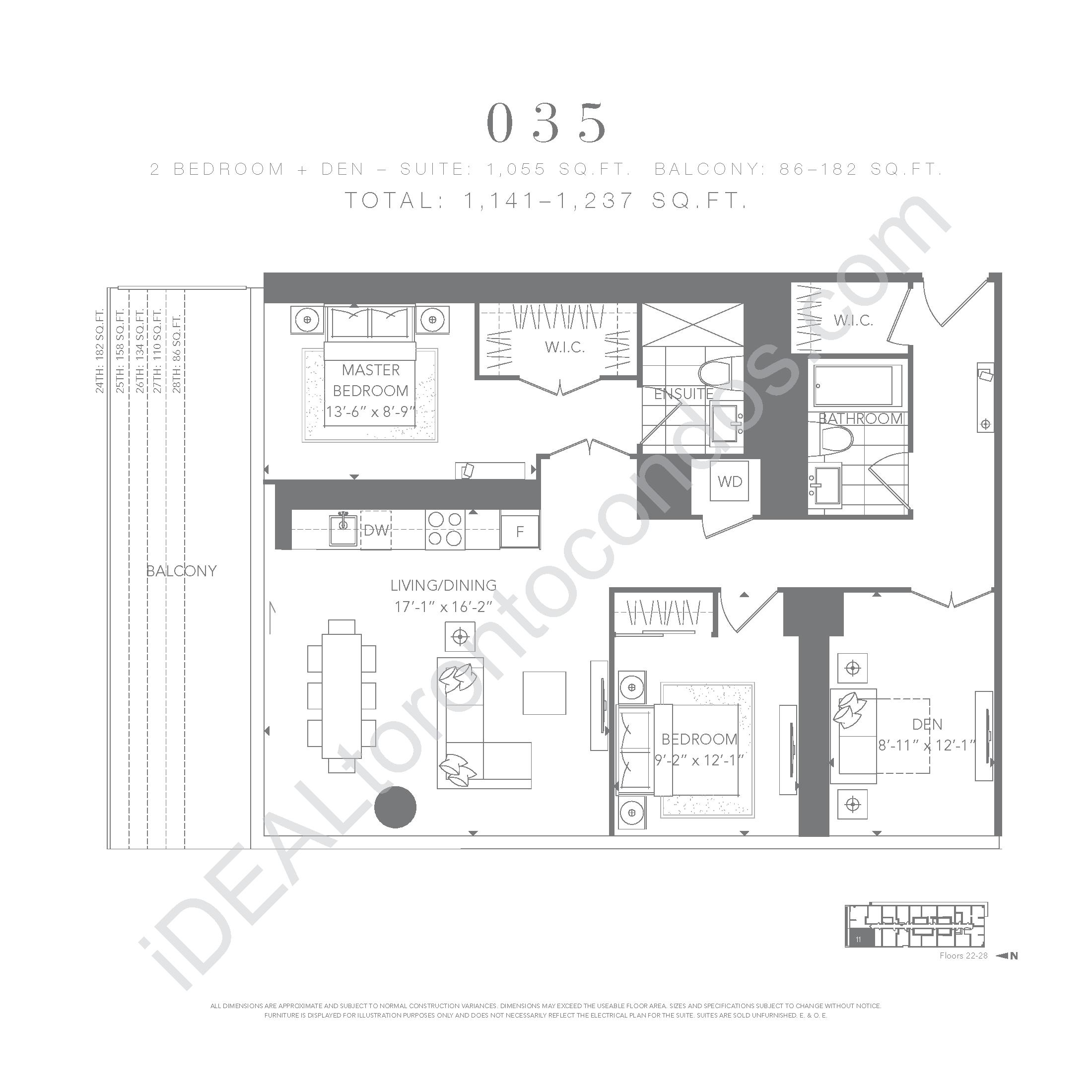 2 bedroom + den 035