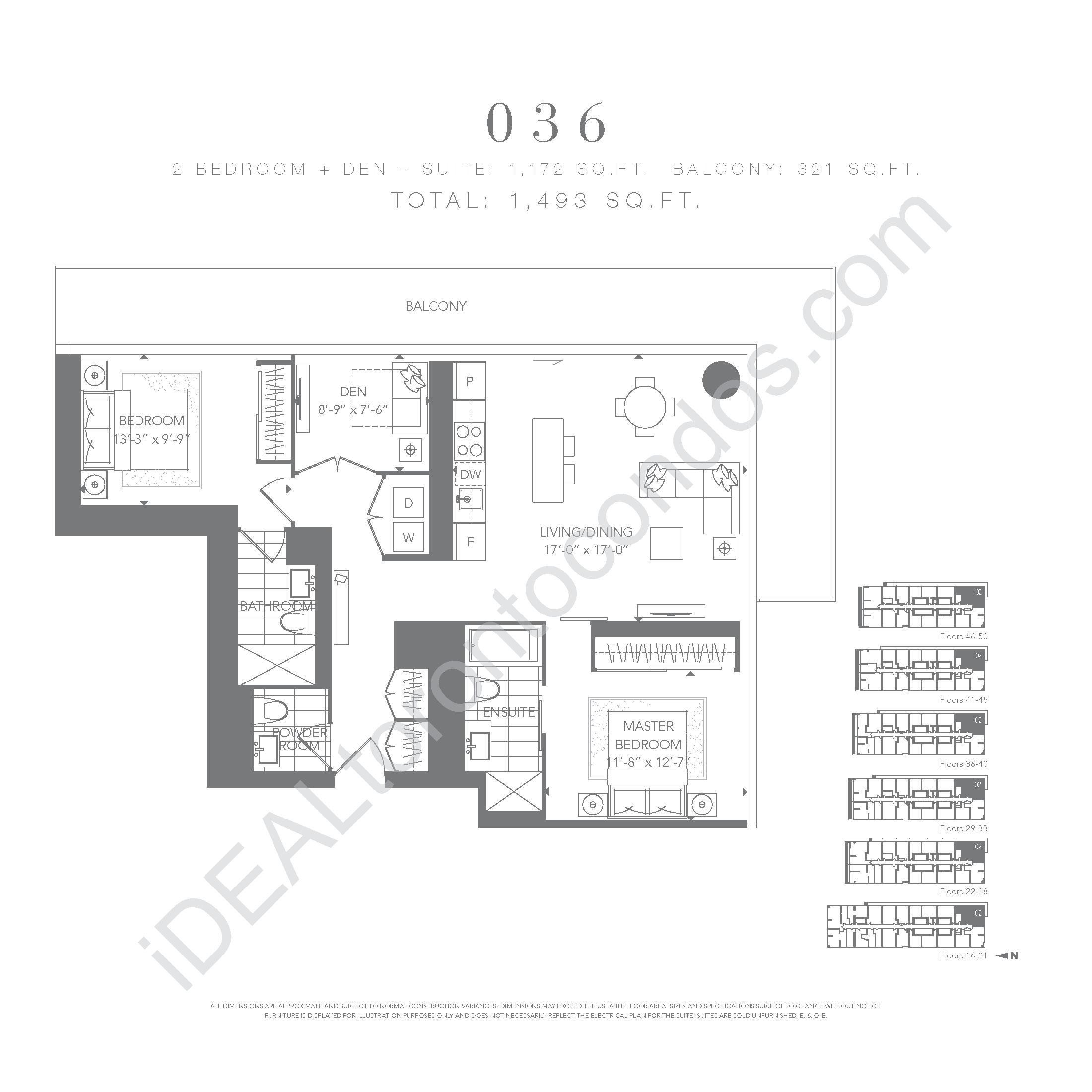 2 bedroom + den 036