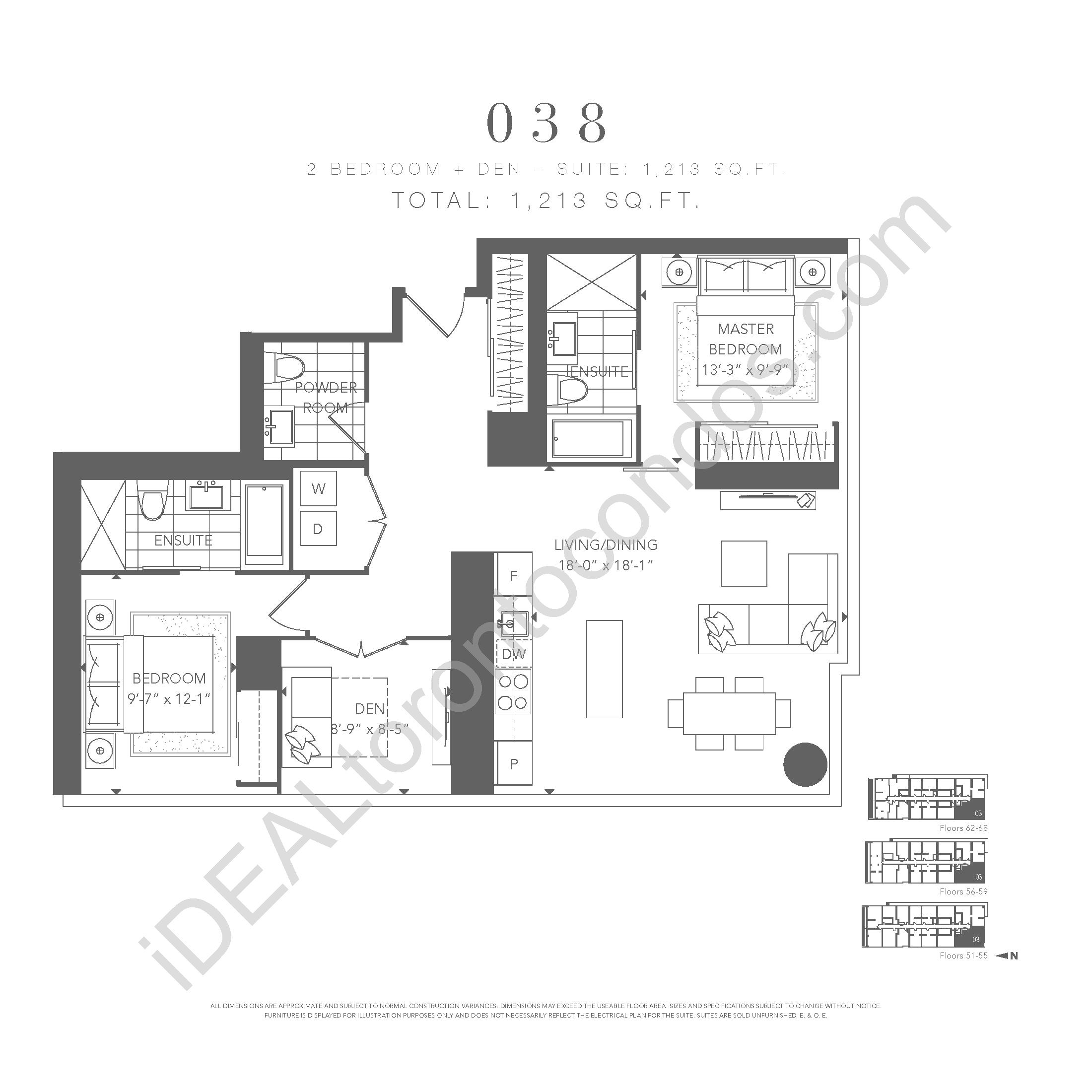 2 bedroom + den 038