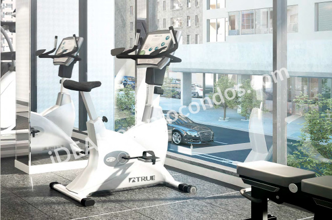 The Woodsworth condos fitness Studio