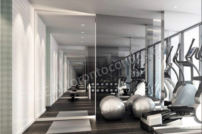 The Woodsworth condos gym