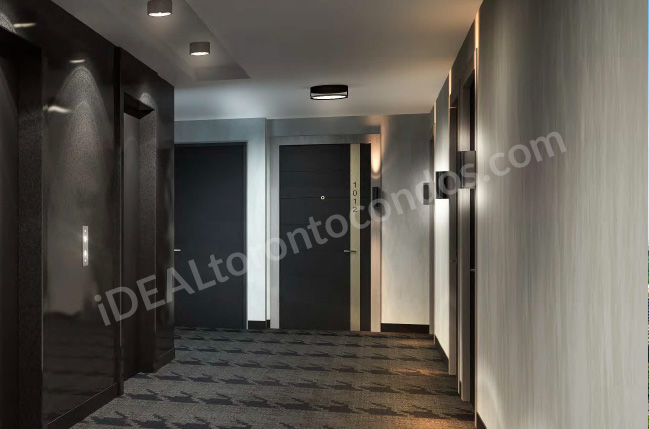 The Woodsworth condos hallways