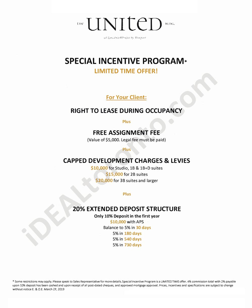 The United Bldg-Special-Incentive-Clients