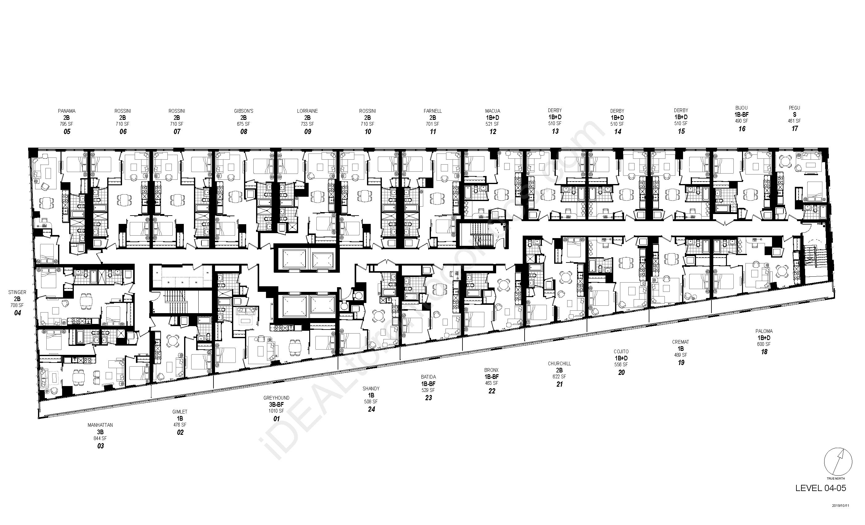 Floorplan Level 04-05
