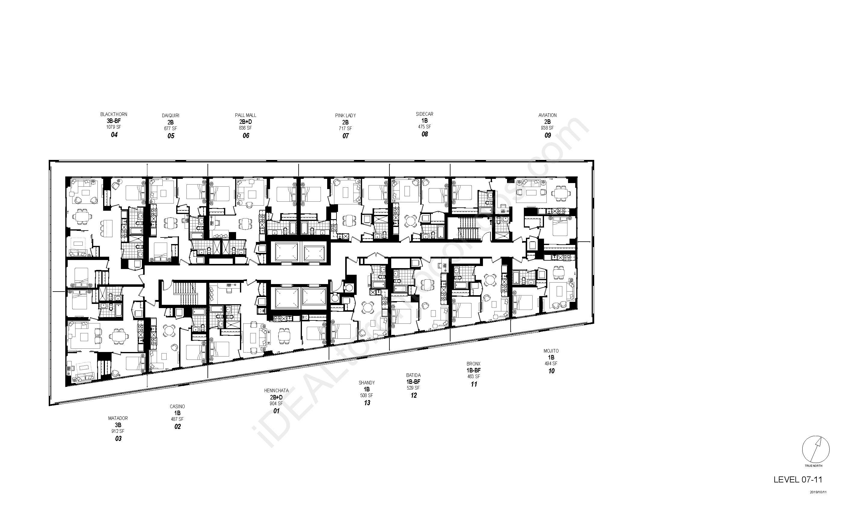 Floorplan Level 07 to 11