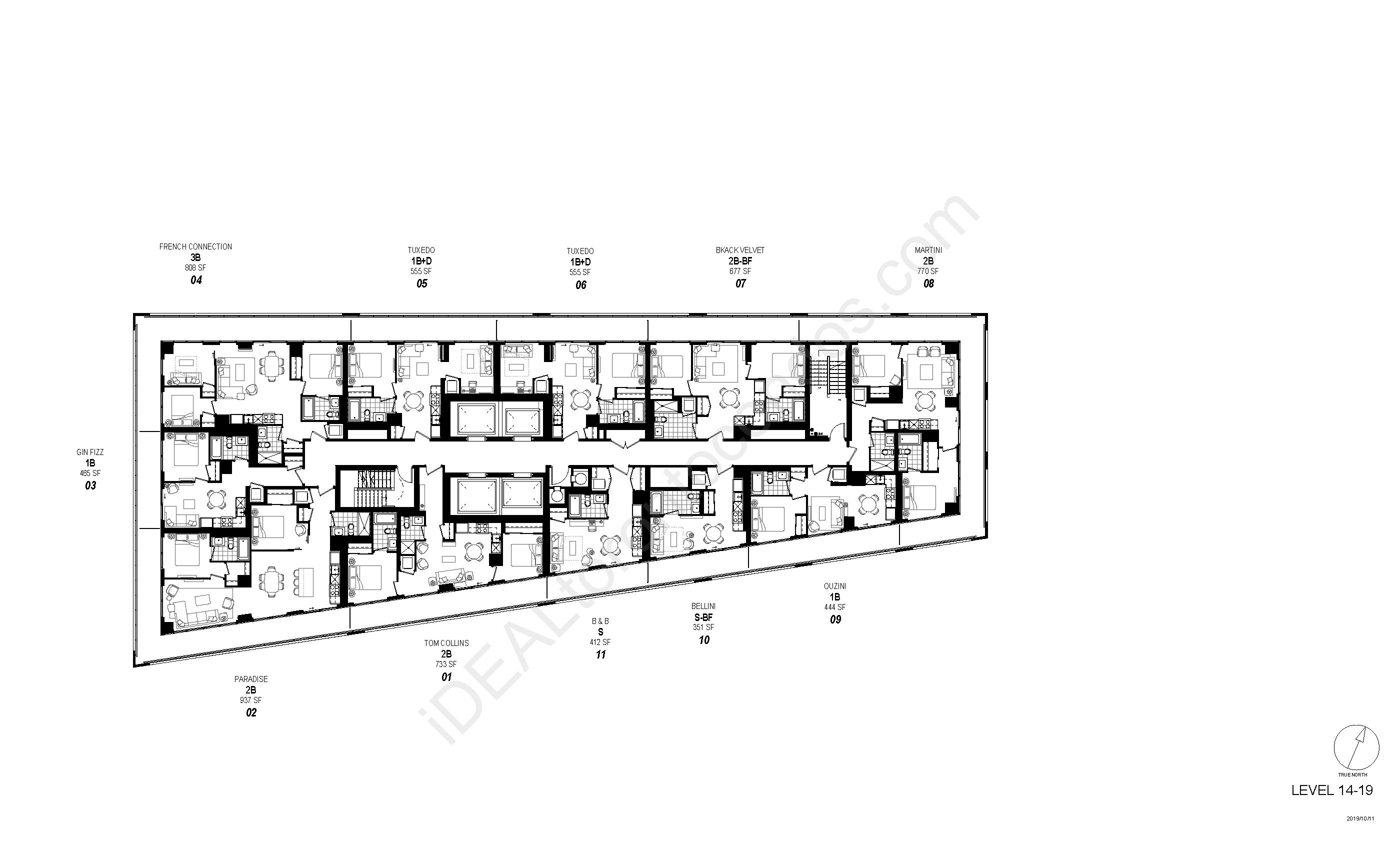 Floorplan Level 14 to 19