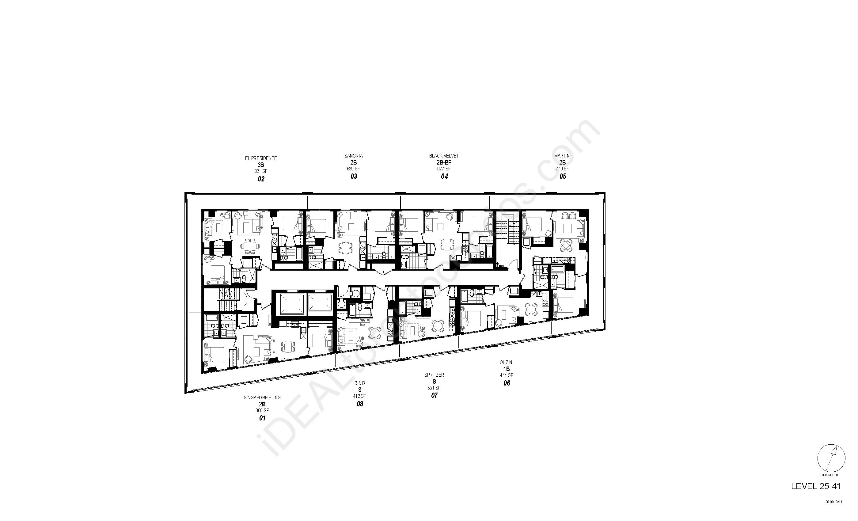 Floorplan Level 25 to 41