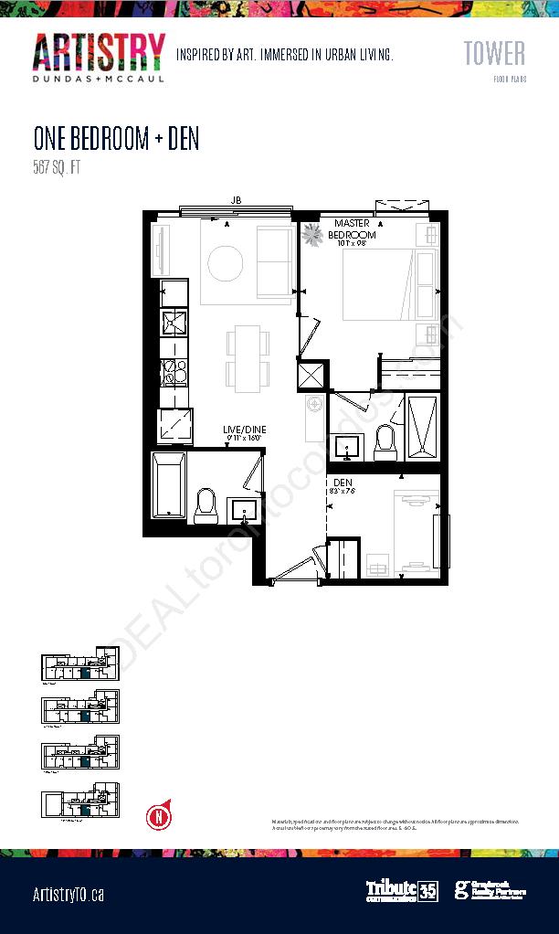 Tower - 1 Bedroom + Den