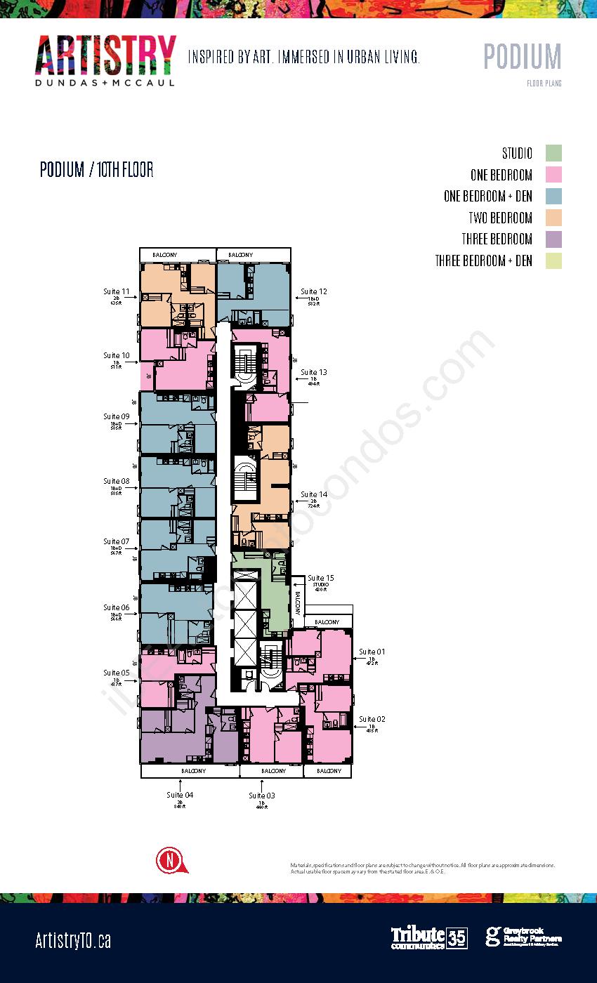 Key plate - Podium - 10th floor