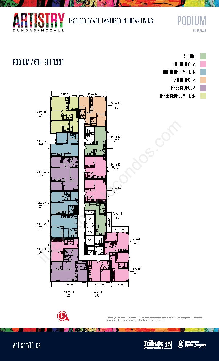 Key plate - Podium - 6th-9th floor