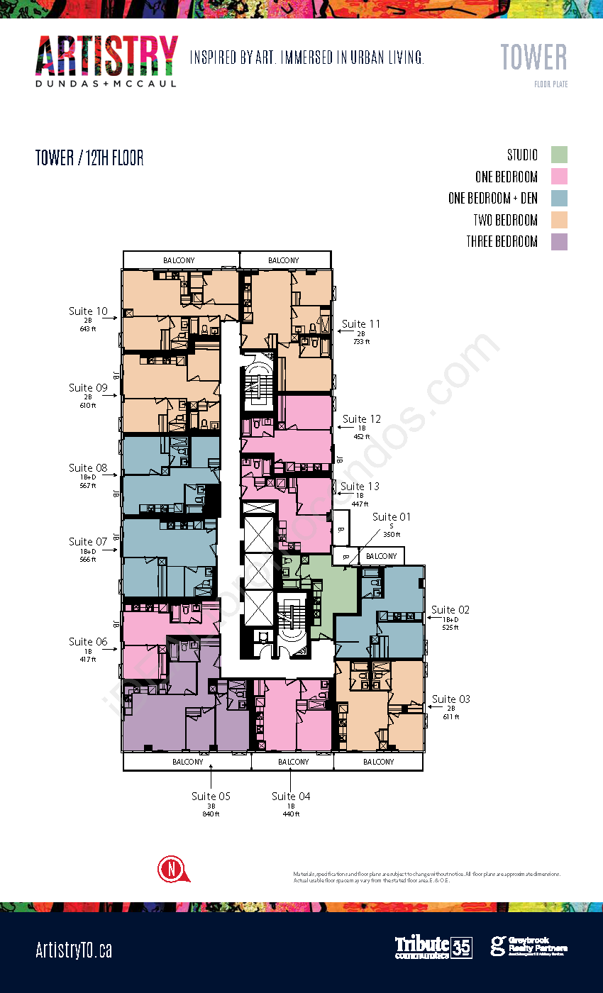 Key plate - Tower - 12th floor