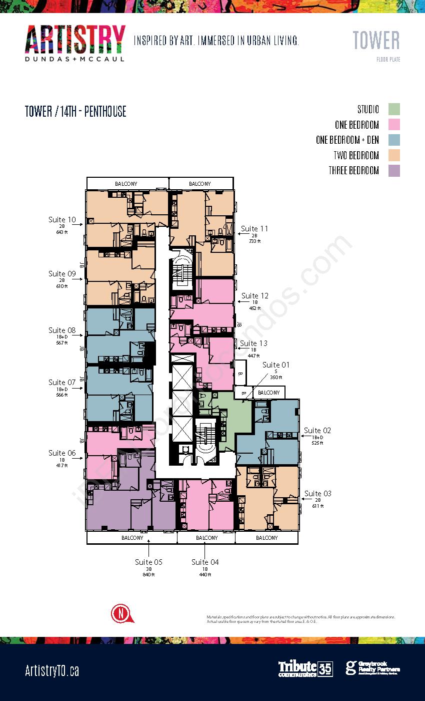 Key plate - Tower - 14th floor