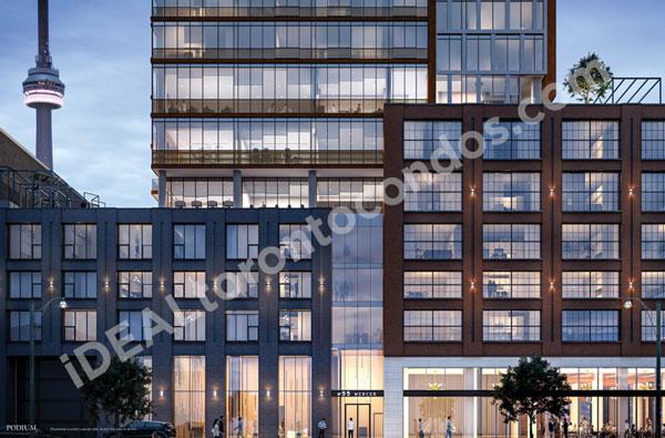 N55 mercer Condos facade